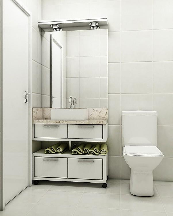 Armario planejado com espelho para banheiro : Arm?rio banheiro em mdf com espelho e ilumina??o de led